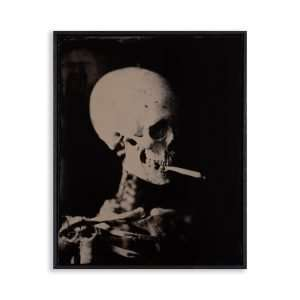 Head of a Skeleton with a Burning Cigarette noII