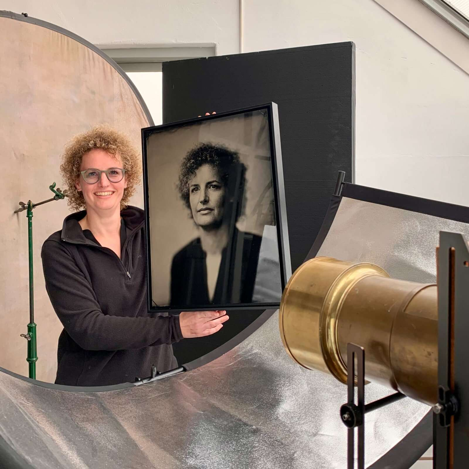 Commissioned Tintype Portrait for Daphne Wageman, on metal it is a tintype on glass an ambrotype, made by Hans de Kort